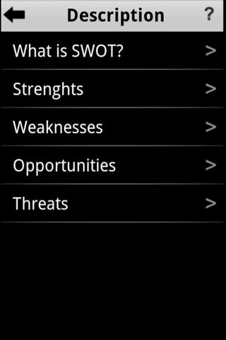 SWOT Analysis - screenshot