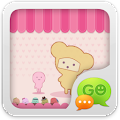 GO SMS Pro Pink Sweet theme APK for Bluestacks