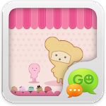 GO SMS Pro Pink Sweet theme 1.1 Apk