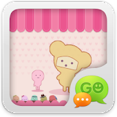 Download GO SMS Pro Pink Sweet theme APK for Android Kitkat