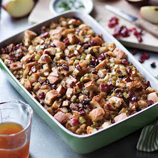 Artisan Bread Stuffing with Apples and Sausage.