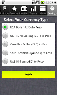 Philippines Peso Exchange Rate- screenshot thumbnail