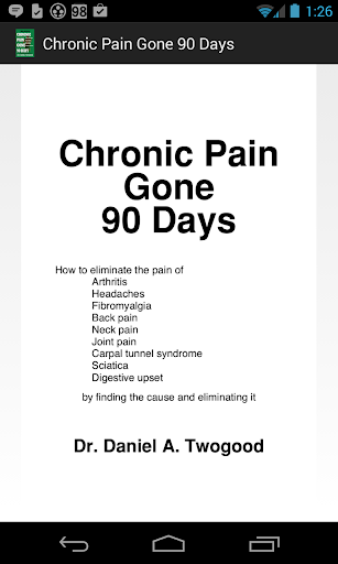Chronic Pain Gone In 90 Days