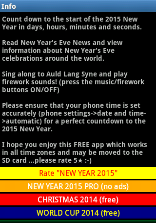 NEW YEAR 2015 - screenshot