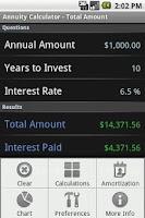 Screenshot of Annuity Calculator - Full