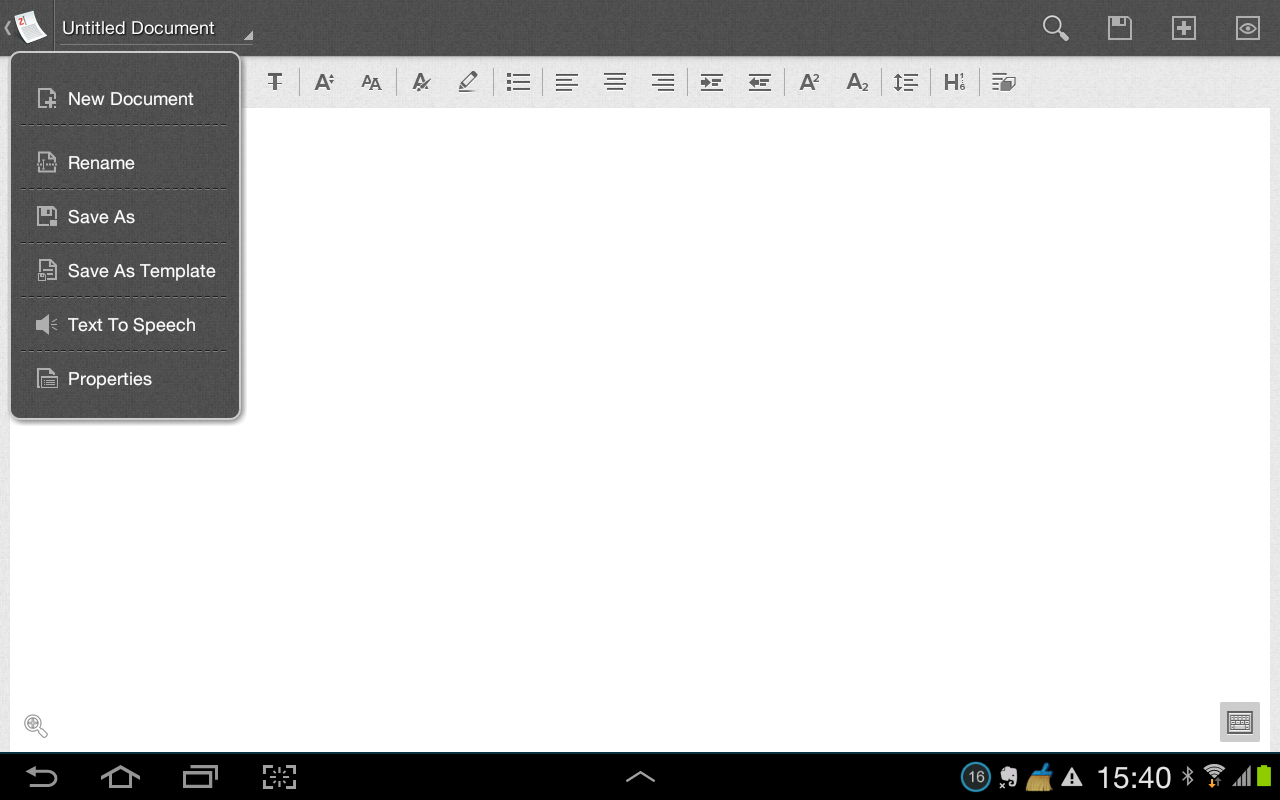 Zoho Writer - screenshot
