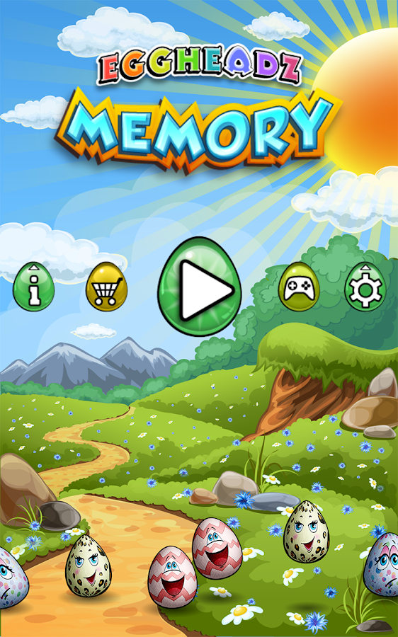 Eggheadz Memory Match Free- screenshot