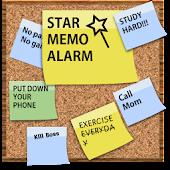 Star memo alarm - popcorn note