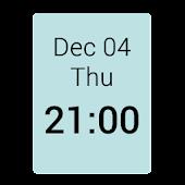 1x1 Clock Widget
