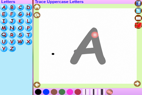 Trace Telugu English Alphabets- screenshot thumbnail