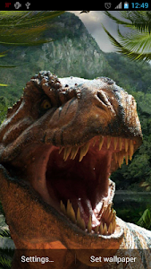 Dinosaurs Live Wallpaper screenshot 1