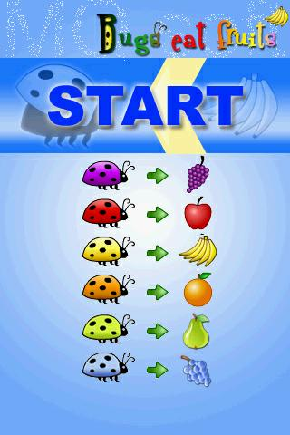 bugs eat fruits - screenshot