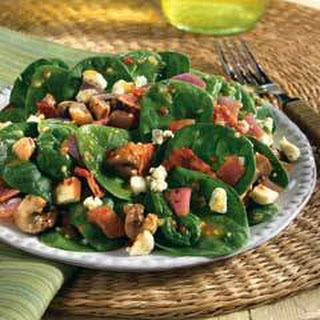 Spinach Salad With Italian Marinated Mushrooms & Gorgonzola.