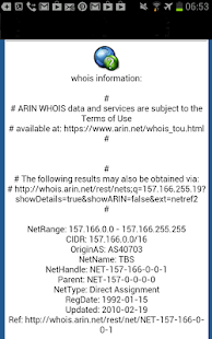 DNS Lookup and Whois- screenshot thumbnail
