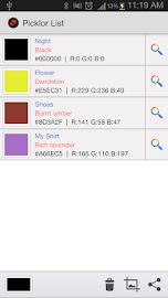 Picklor : Camera Color Picker Screenshot 2
