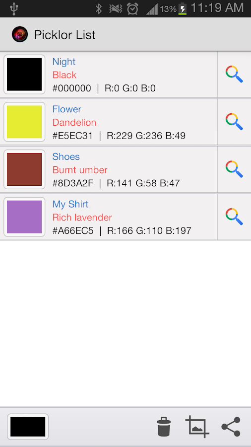 Picklor : Camera Color Picker- screenshot
