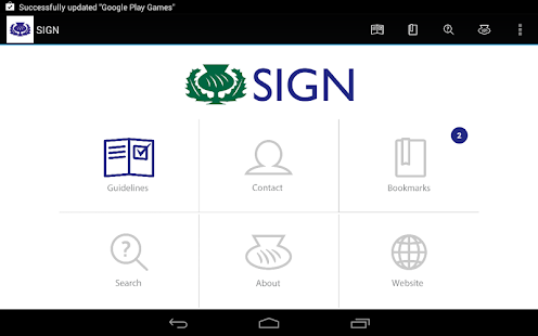 SIGN Guidelines - screenshot thumbnail
