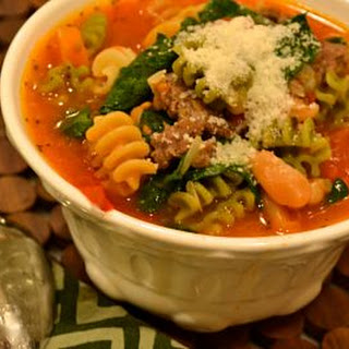 Italian Sausage, Spinach and Pasta Soup