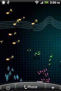 Live Musical Note Wallpaper - screenshot thumbnail