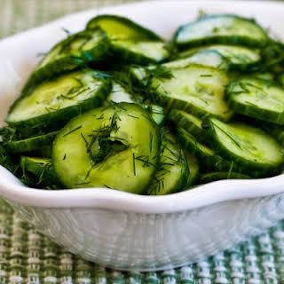 Sweet and Sour Cucumber Salad with Fresh Dill.