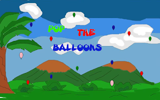 Screenshot of Pop the balloons