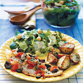 Snapper with Tomato and Olives.