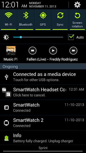 SmartWatch Motion Headset