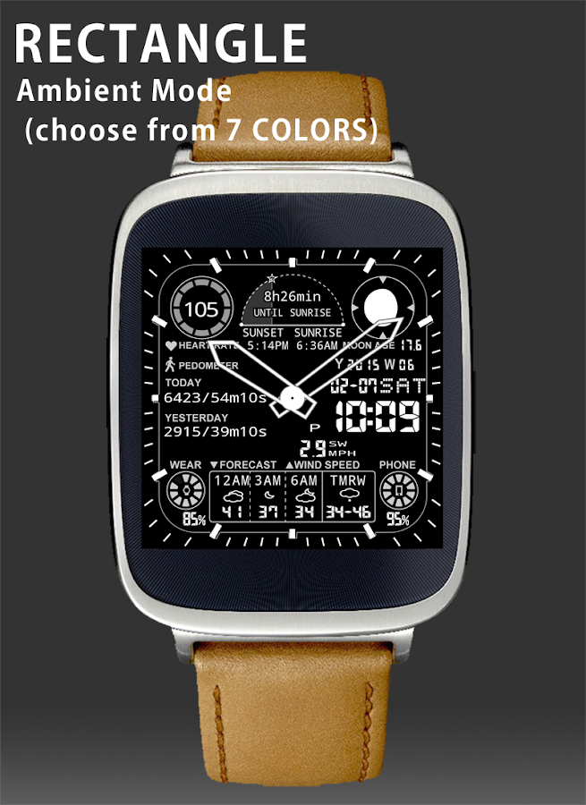 A48 WatchFace for Android Wear- screenshot