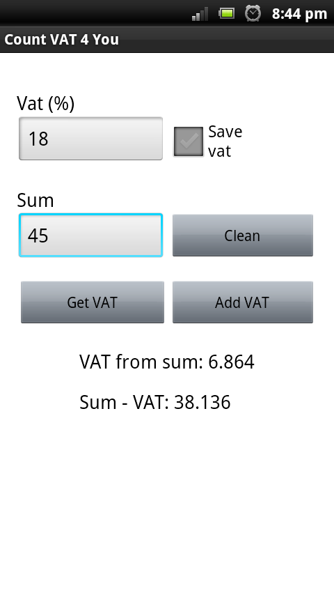 Count VAT 4 you - screenshot