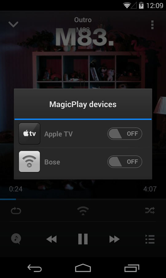 MagicPlay: AirPlay for Android - screenshot