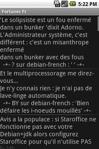 Citations FR - screenshot