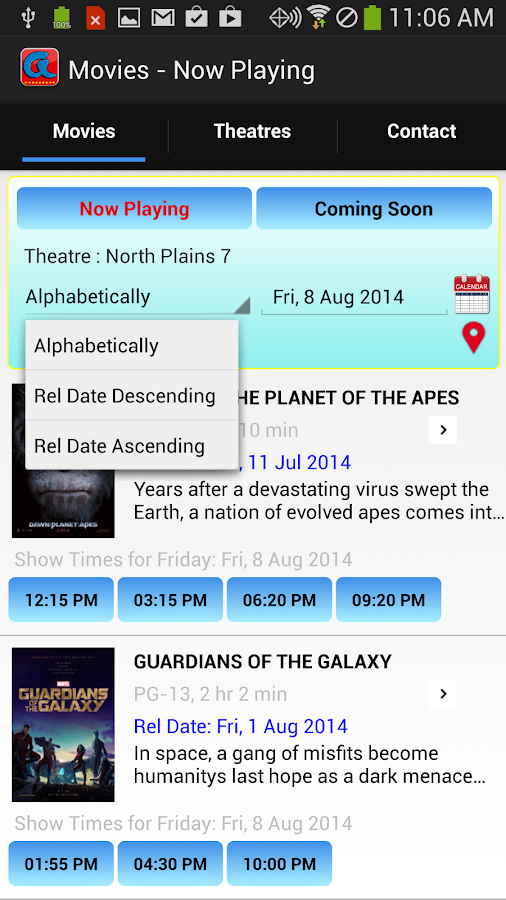 Allen Theatres- screenshot