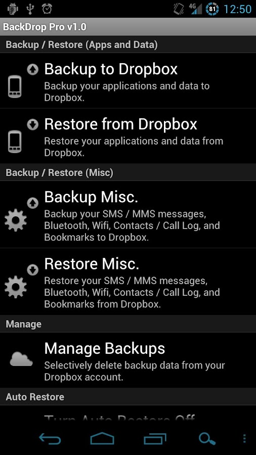 BackDrop Root Pro Key- screenshot