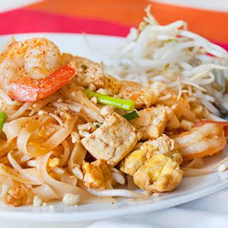Tofu and Shrimp Pad Thai