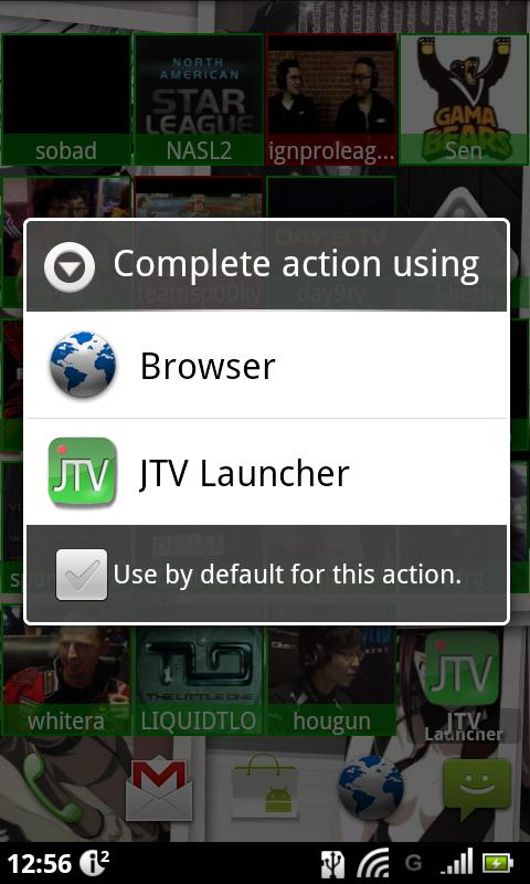 JTV Launcher Widget - screenshot