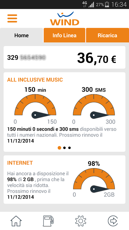 MyWind (App ufficiale Wind) - screenshot