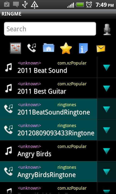 RINGME elegant Ringtone Maker- screenshot