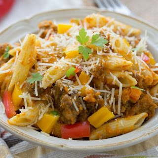 Pumpkin And Sausage Pasta.