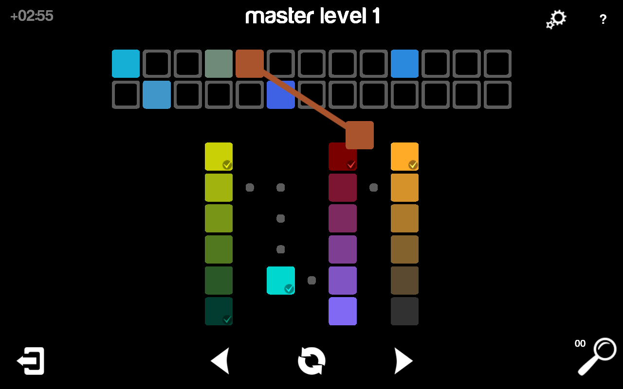 Game maker color blend - Blendoku Screenshot