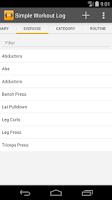 Screenshot of Simple Workout Log