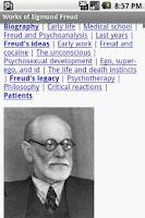 Screenshot of Works of Sigmund Freud