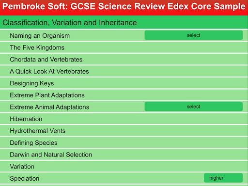 Sample Edexcel Core Review