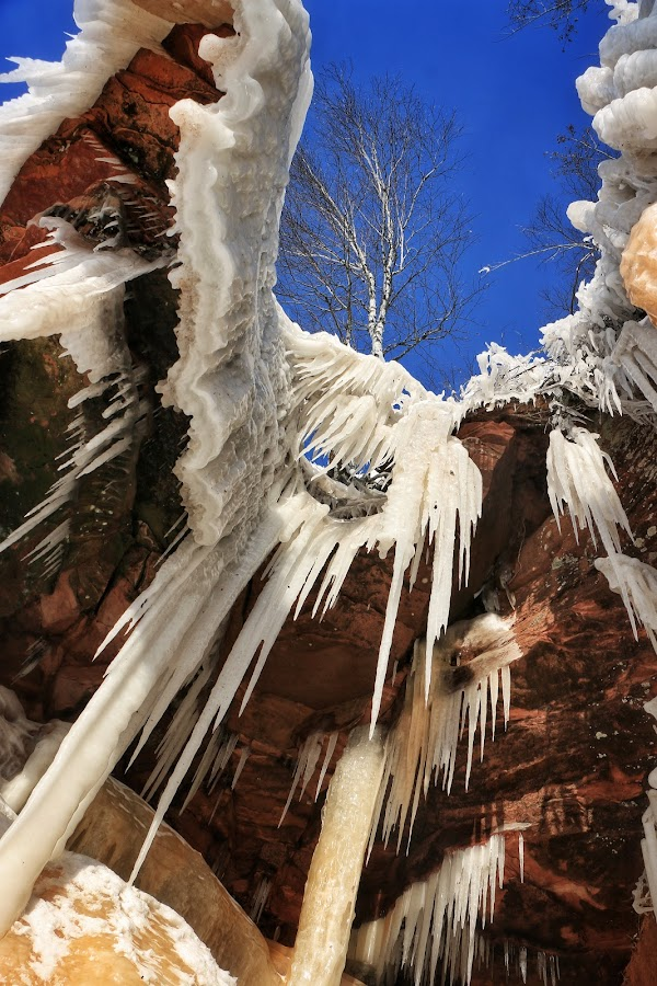 Ice Caves by Nathan Porath - Nature Up Close Other Natural Objects ( wisconsin, cliffs, ice, snow, state park, icicles, cave, icicle,  )
