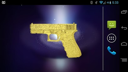Handgun Gold Gun Widget Android Arcade & Action