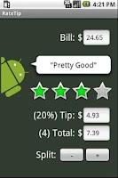 Screenshot of RateTip - Tip Calculator