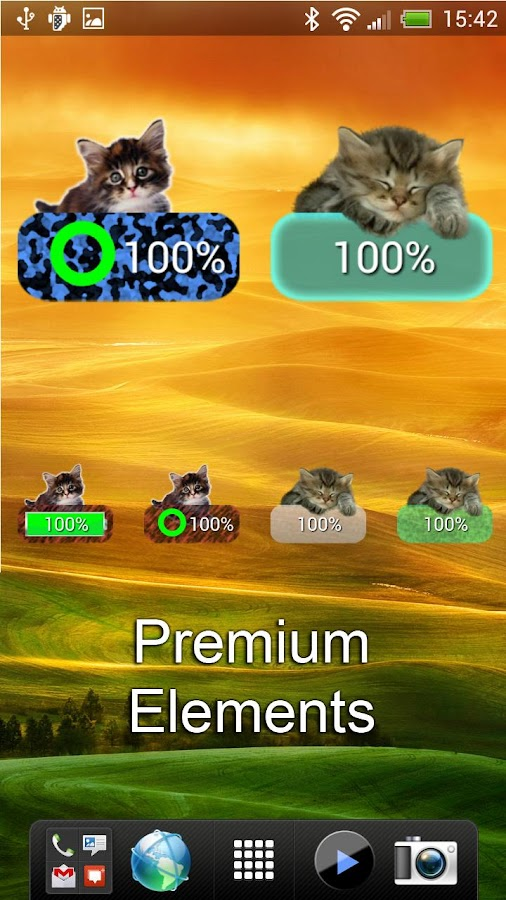 Kitten Battery Widget - screenshot