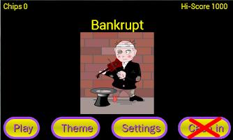 Screenshot of Higher or Lower card game