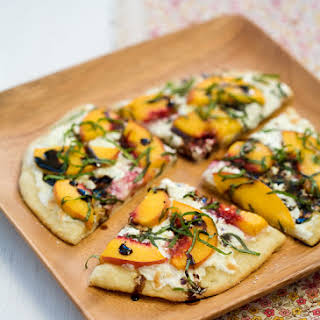 Summer Peach and Balsamic Pizza.