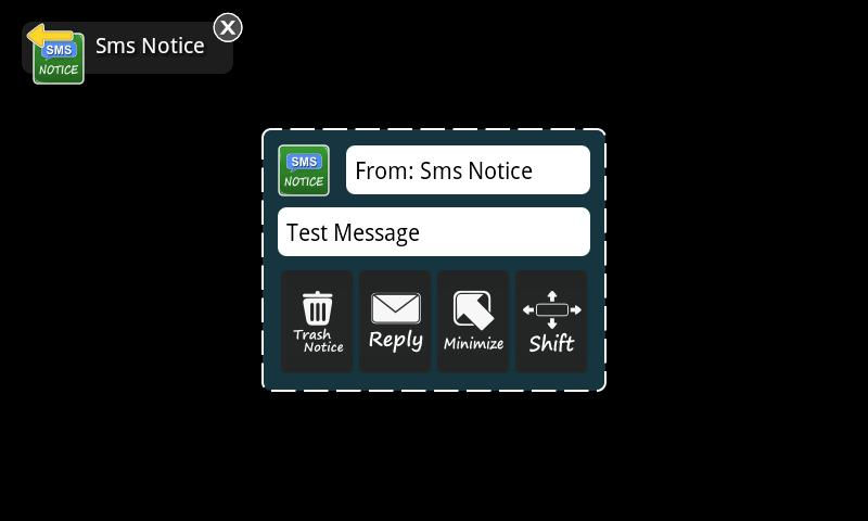 Sms Notice Lite- screenshot