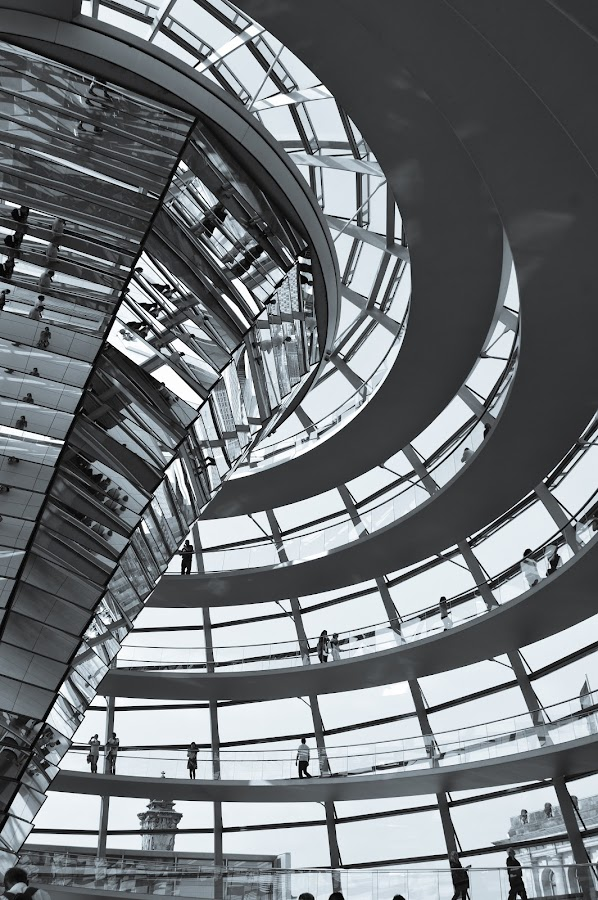 Reichstag by Stuart Lilley - Black & White Buildings & Architecture ( parliament, reichstag, black and white, germany, berlin,  )